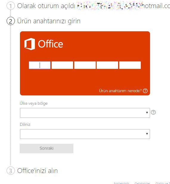 office etkinleştirme,lisans etkinleştirme